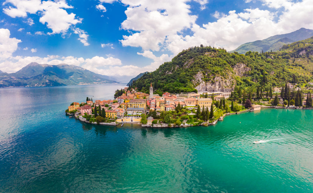 Varenna - famous old Italy town on bank of Como lake