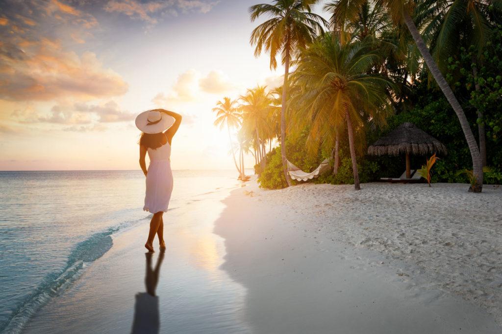 Evening strolls in the Maldives