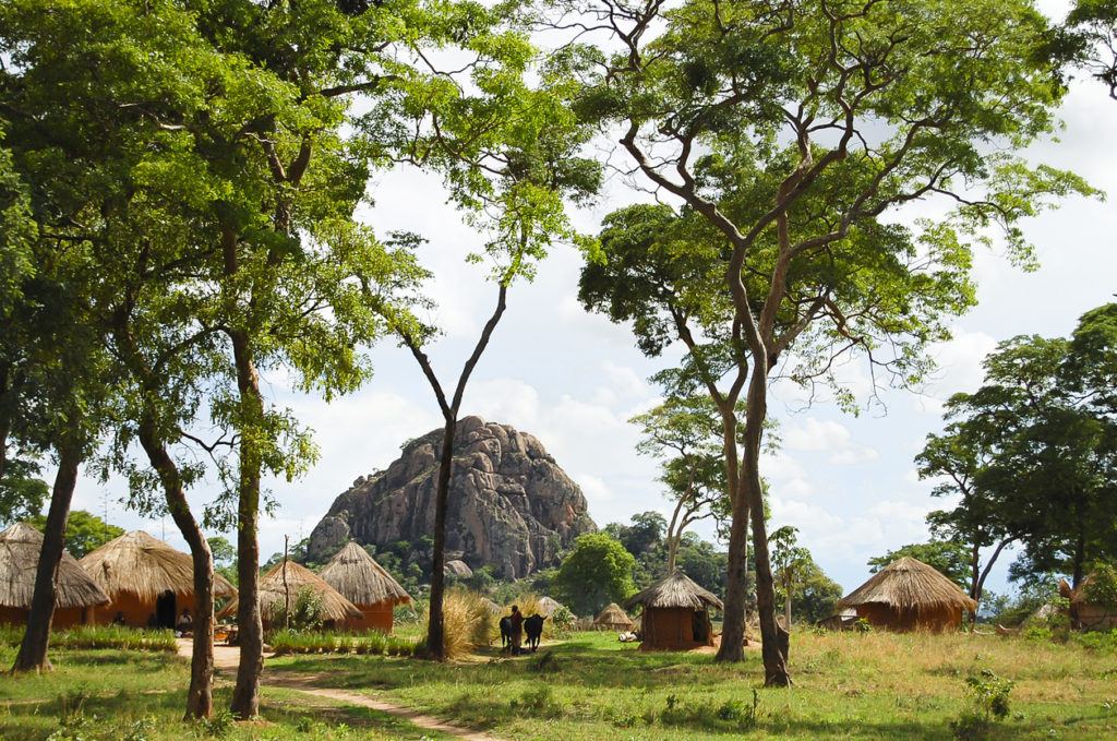 African Huts in Zambia