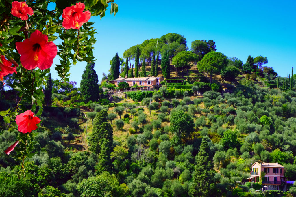 Beautiful italian countryside landscape