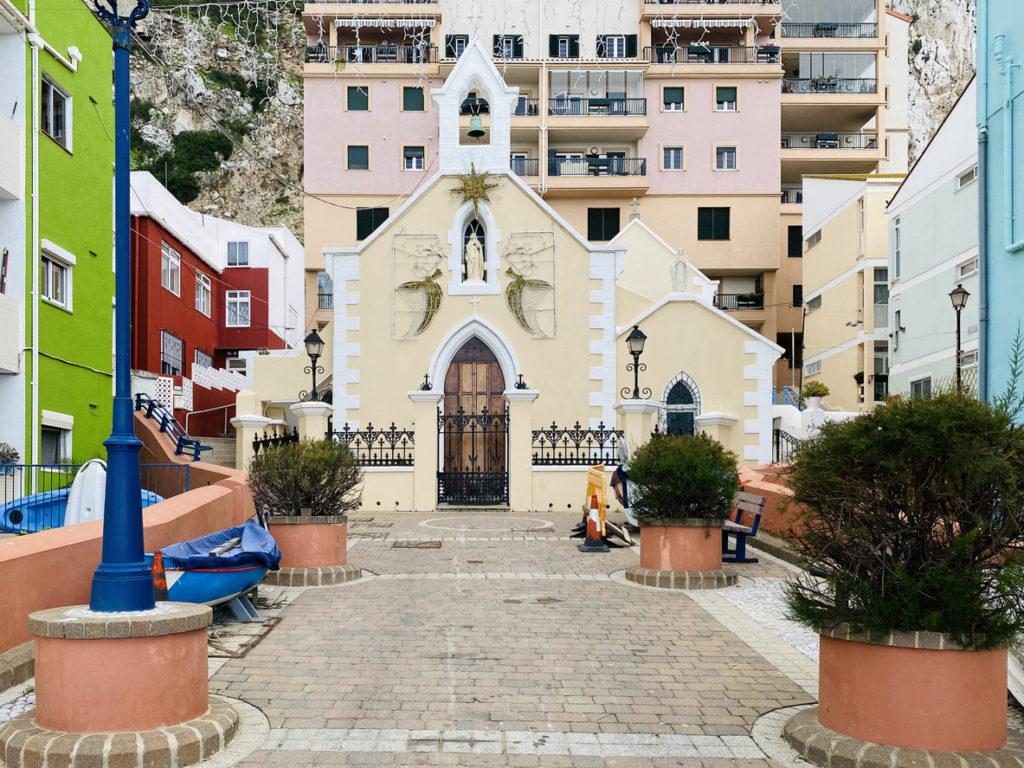 Our lady of Sorrows in Catalan bay village in Gibraltar