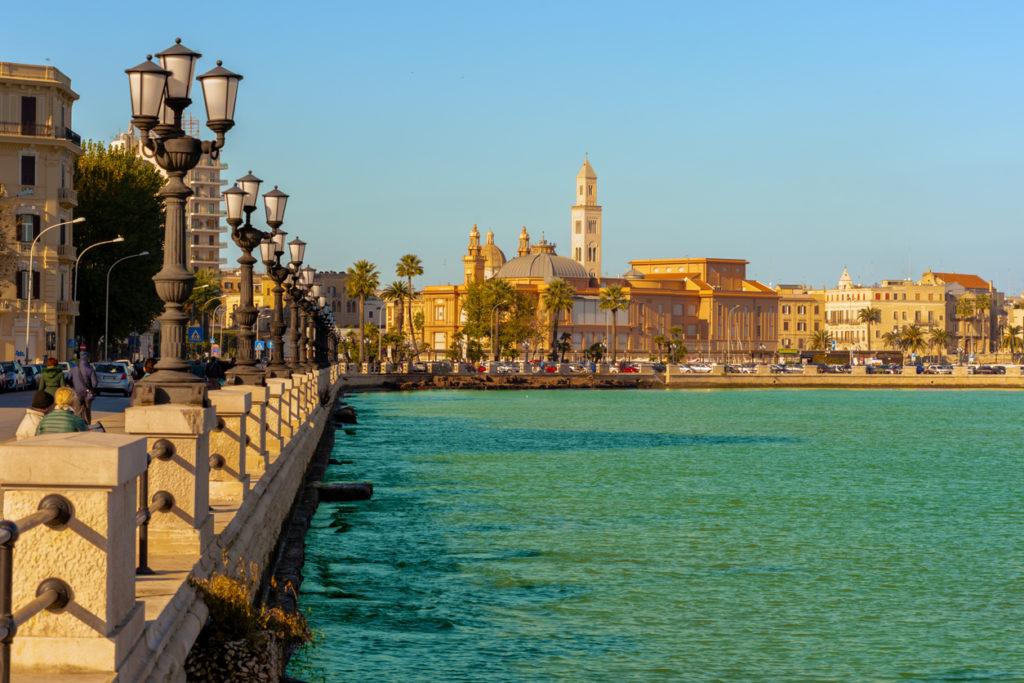 Panoramic view of Bari seafront