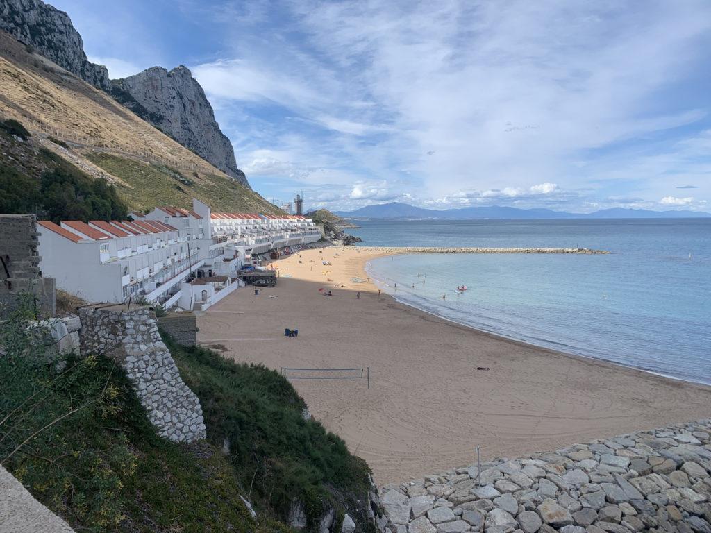 Sandy Bay on the east side of Gibraltar