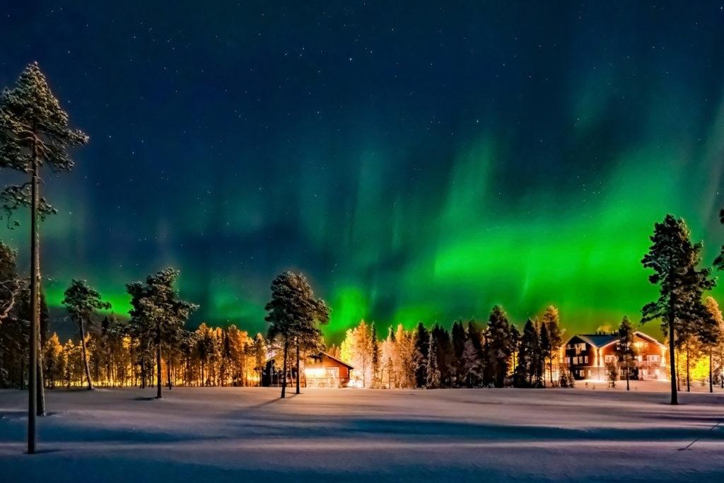 Arctic Circle in Winter Lapland Finland