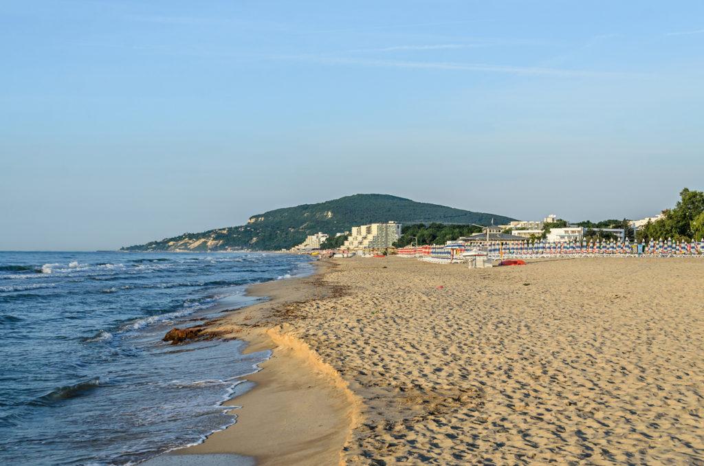 Black Sea view of Albena in Bulgaria