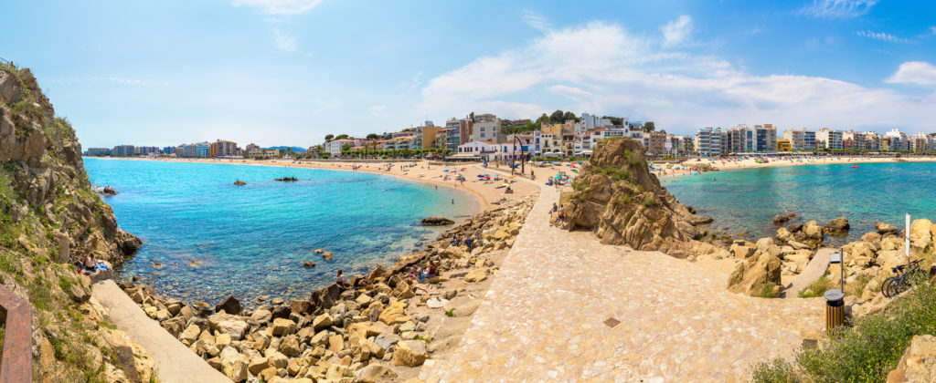 Blanes Beaches east and west