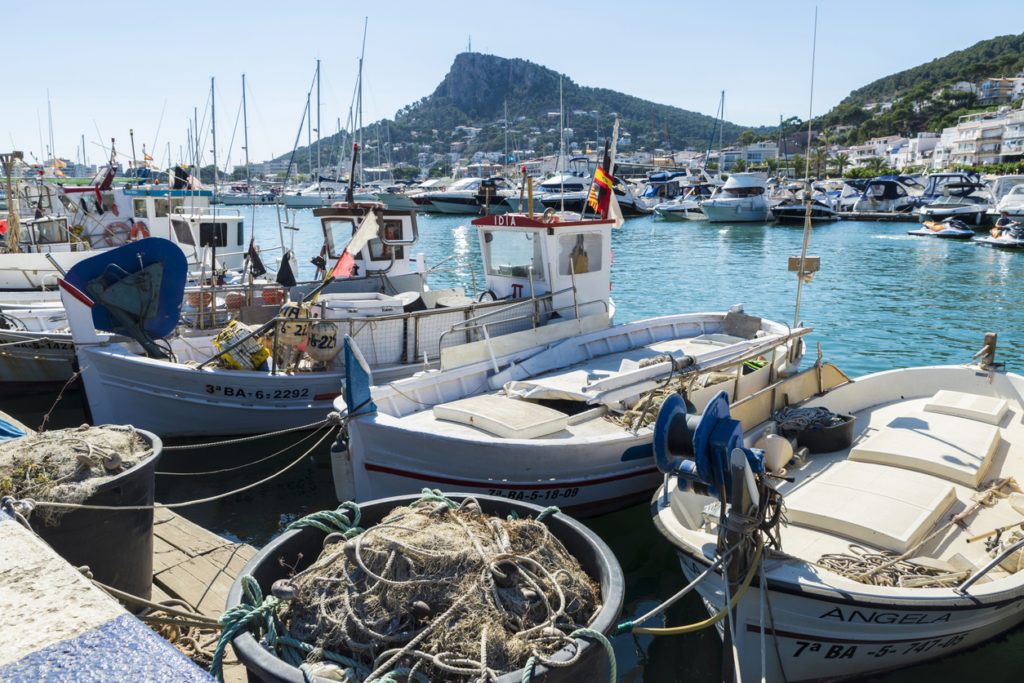 Fishing port and recreational boats in Estartit