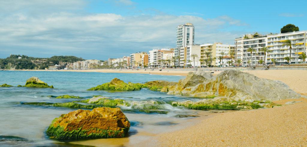 Lloret beach in Lloret de Mar