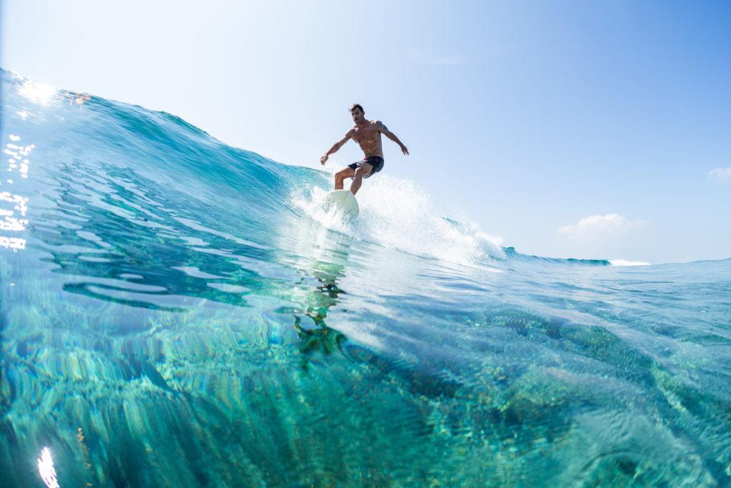 Perfect Glassy Surf in the Maldives