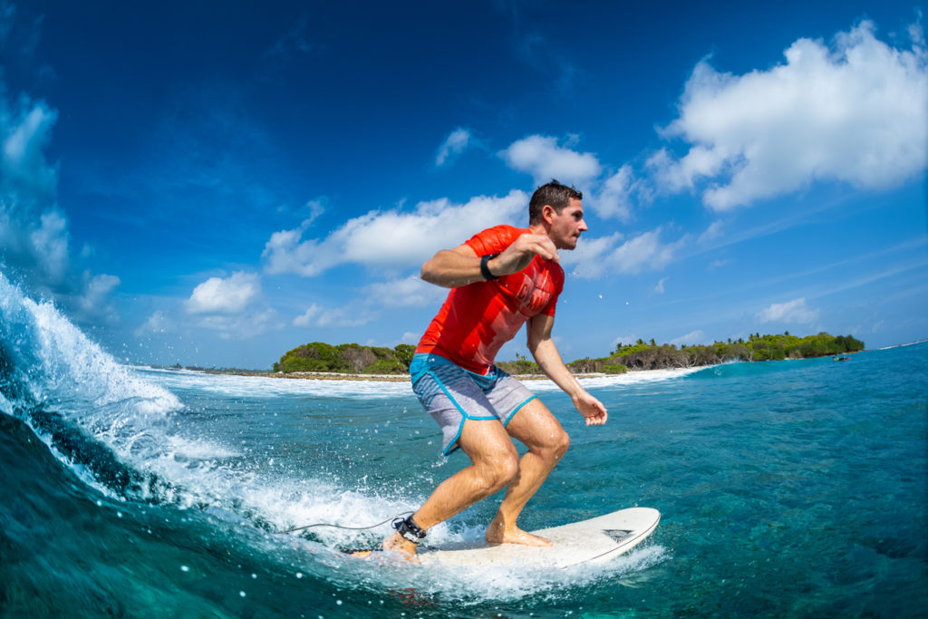 Sultans surf spot in Maldives
