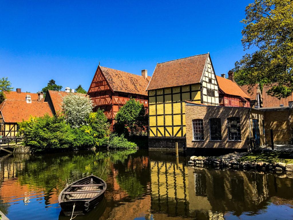 Beautiful houses in Aarhus, Denmark