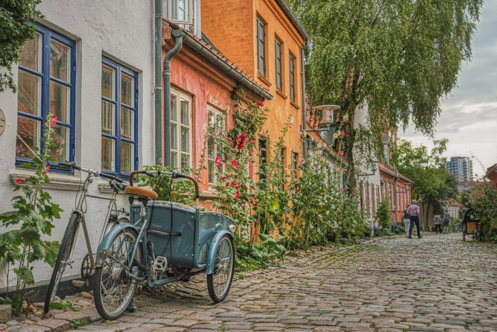Cobbled street. Aarhus