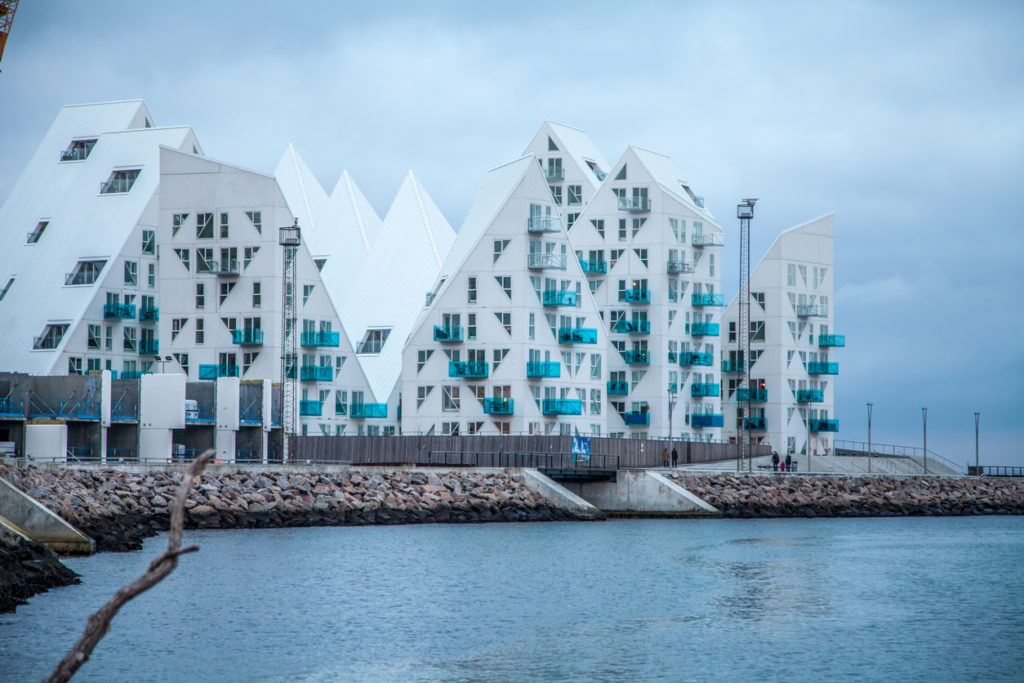 Residential structure known as The Iceberg in Aarhus