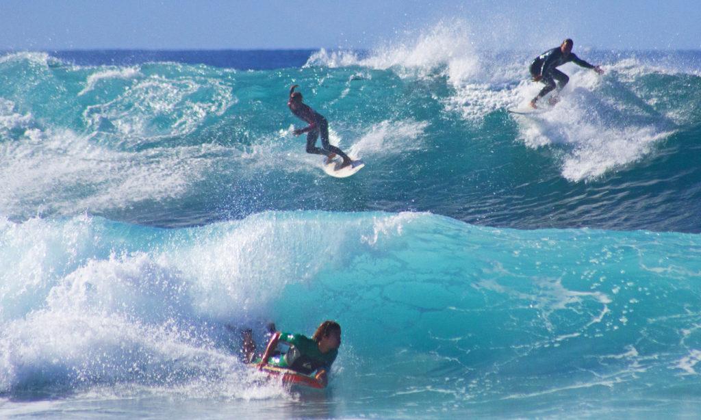 Surfing in Playa De Las Americas - Tenerife