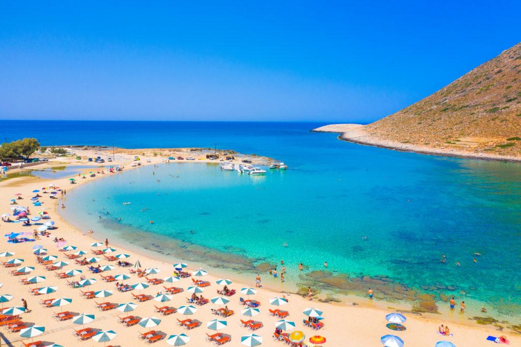 Amazing sandy beach of Stavros