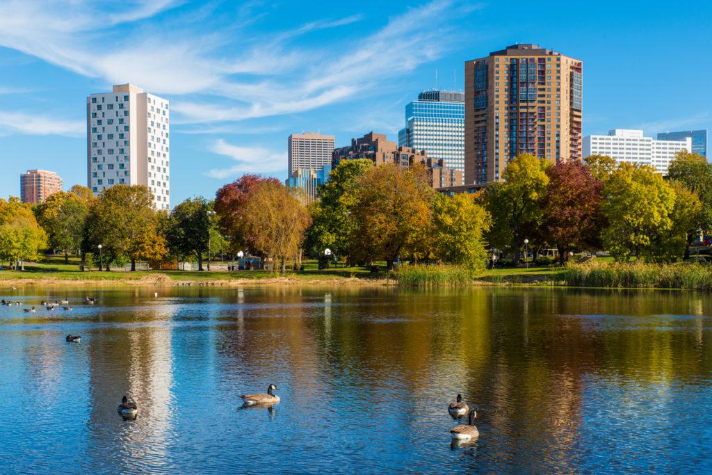 Loring Park in Minneapolis During Autumn