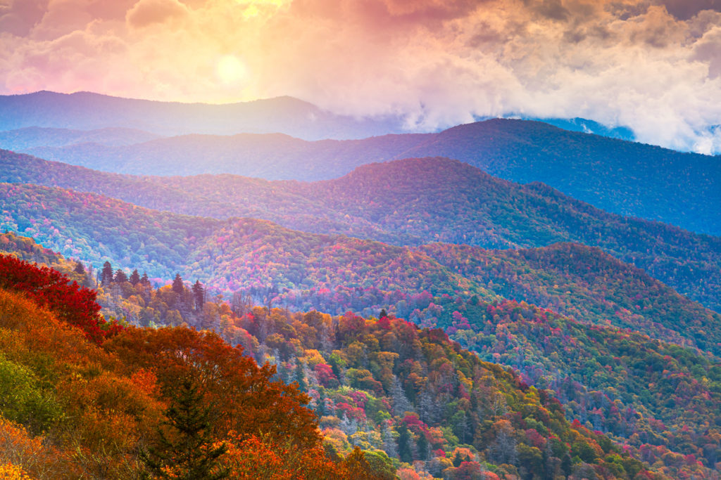 Newfound Gap Road in the Great Smoky Mountains