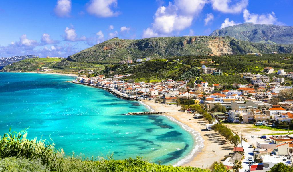 Stunning views of Kalyves bay and beach
